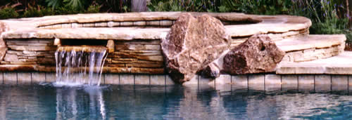 Rocks and pool.